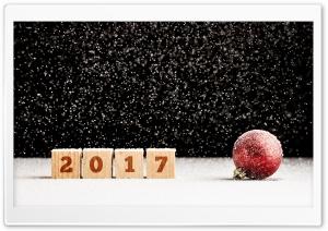 2017 Happy New Year, Snow Bokeh