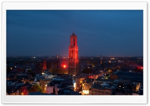 Dom Tower At Night