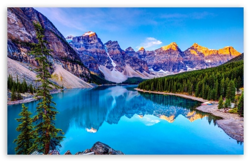 Download Nature, Mountains, Blue Lake UltraHD Wallpaper