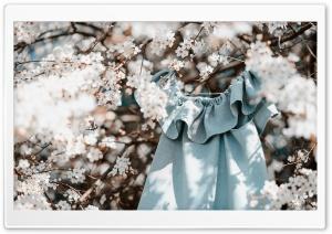 Spring, Blossoms, Flowers, Dress