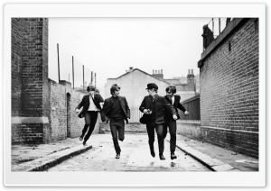 The Beatles Running
