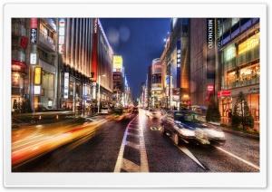 Tokyo Street At Night, HDR