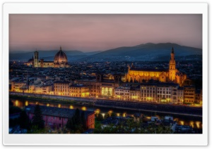 Dusk in Florence, Italy