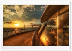 Cruise Ship Deck, Sunset