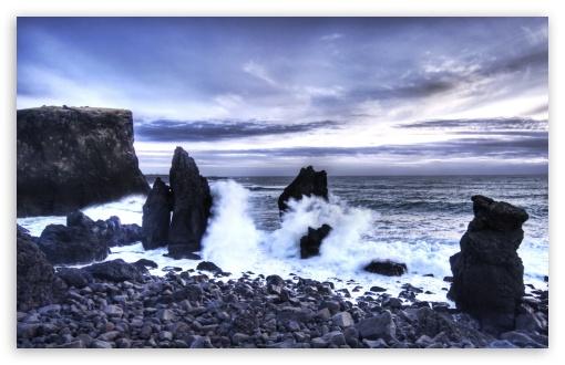 Download Iceland Sea Shore UltraHD Wallpaper