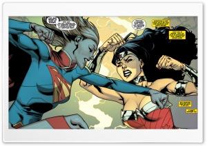 Supergirl Wonder Woman Fight