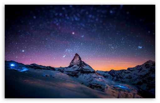 Download Mountain at Night UltraHD Wallpaper