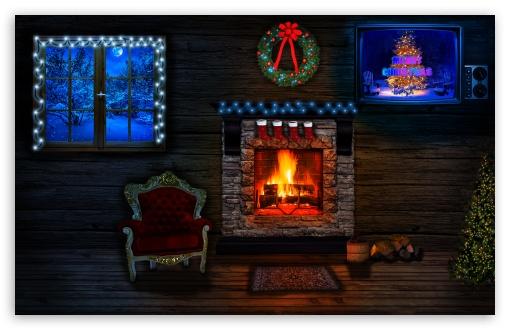 Download Christmas House UltraHD Wallpaper