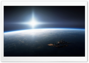 Space Station On Earth Orbit