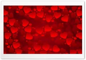 Valentines Day Red Hearts