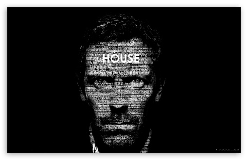 Download Dr. House Typography UltraHD Wallpaper