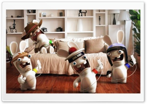 Rayman Raving Rabbids Playing...