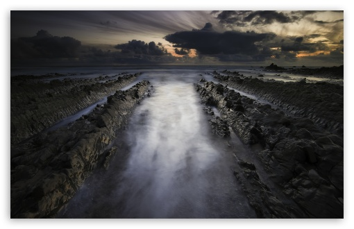 Download Welcombe Mouth Rock Formation, Sea UltraHD Wallpaper