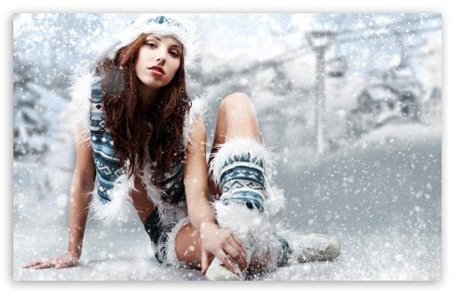 Download Winter Girl UltraHD Wallpaper