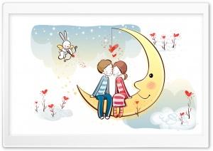 Sweet Couple On Moon