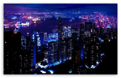 Download Night City UltraHD Wallpaper