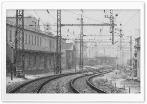 Railwaystation in Winter