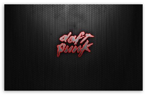 Download Daft Punk Logo Red UltraHD Wallpaper