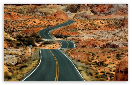 Download Long Road UltraHD Wallpaper