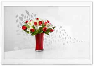 Red Tulips and White Lilies...