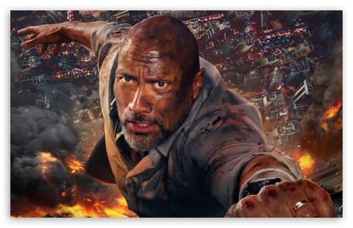 Download Skyscraper Movie Dwayne Johnson UltraHD Wallpaper