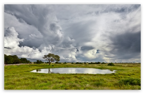 Download Pond And Storm Clouds UltraHD Wallpaper