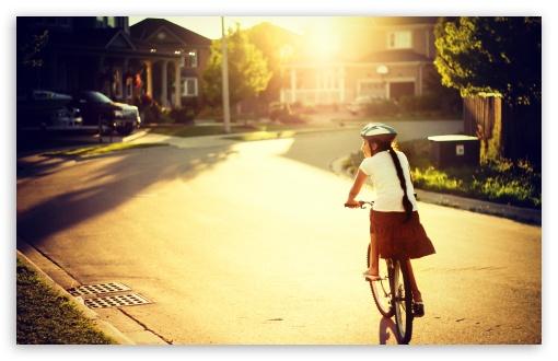 Download Biking Along UltraHD Wallpaper