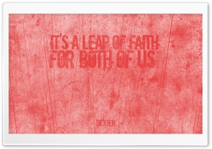 Its A Leap Of Faith For Both...