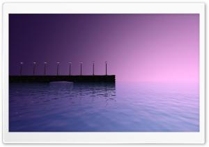Purple Sky Pier Landscape