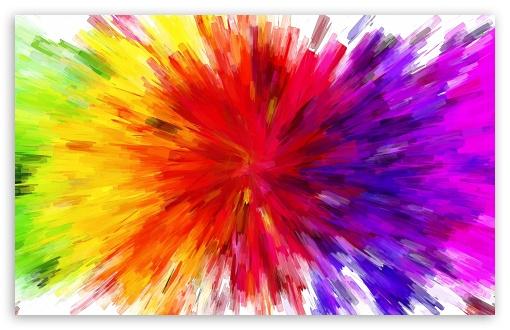 Download Color Burst Painting UltraHD Wallpaper