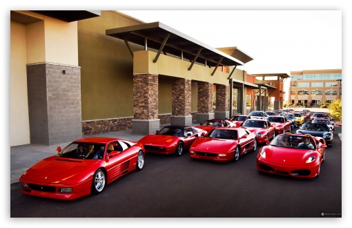 Download Ferrari Group UltraHD Wallpaper