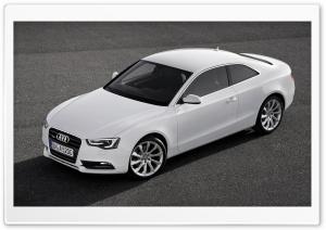 White Audi A5 Coupe