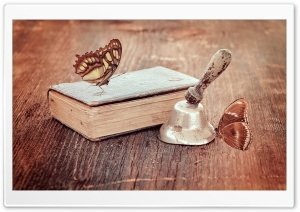 Vintage Book and Butterflies