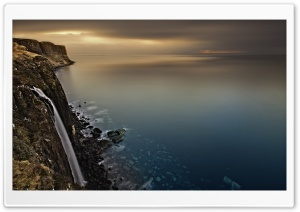 Scotland Coast Waterfall
