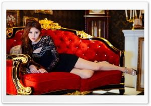 Beautiful Asian Woman, Red...