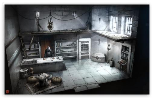 Download Assassins Creed Interior Building Concept Art UltraHD Wallpaper