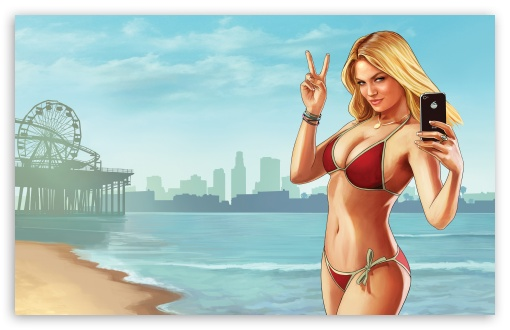 Download Grand Theft Auto V Beach Weather UltraHD Wallpaper
