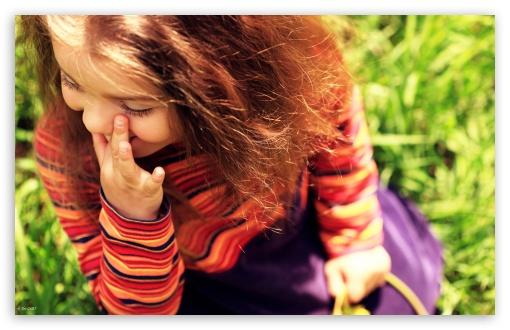 Download Child Girl Laughing UltraHD Wallpaper