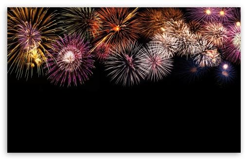 Download Fireworks In The Sky UltraHD Wallpaper
