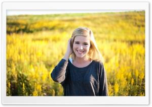 Yellow Field - Girl