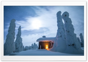 Wilderness Hut, Winter,...