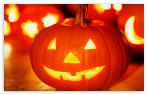 Download Halloween Jack-o'-lantern UltraHD Wallpaper