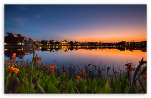Download Good Sunset Reflection UltraHD Wallpaper