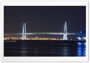 Yokohama Bay Bridge at Night