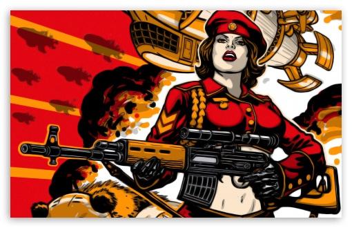 Download RA3 Soviet Army Girl UltraHD Wallpaper