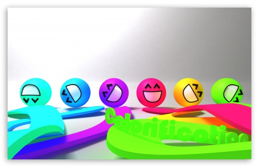 Download Colorful Smiley Faces UltraHD Wallpaper