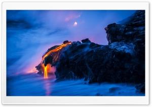 Lava Ocean Smoke