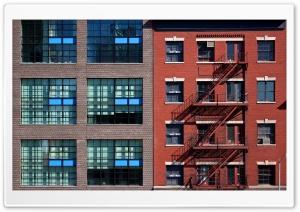 Blue and Orange Buildings