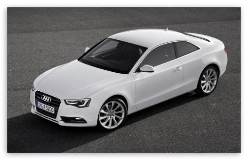 Download White Audi A5 Coupe UltraHD Wallpaper