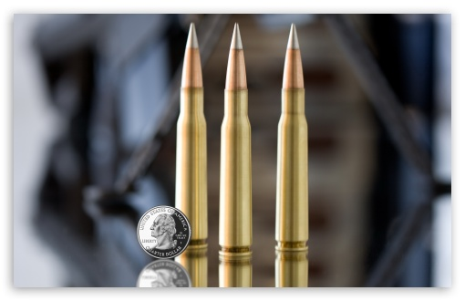Download Machine Gun Bullets UltraHD Wallpaper